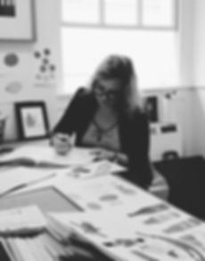 artist sketching in the design studio