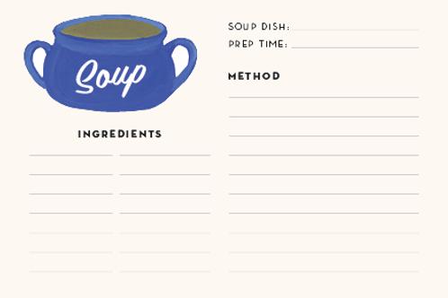 Soup Recipe Cards