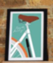 Framed bicycle art print
