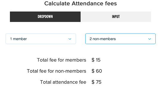 Attendance Fees
