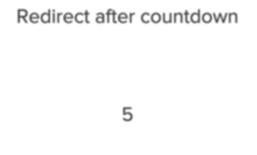 Redirect Delay