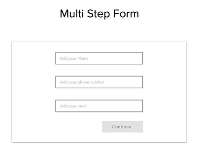 Multi Step Form