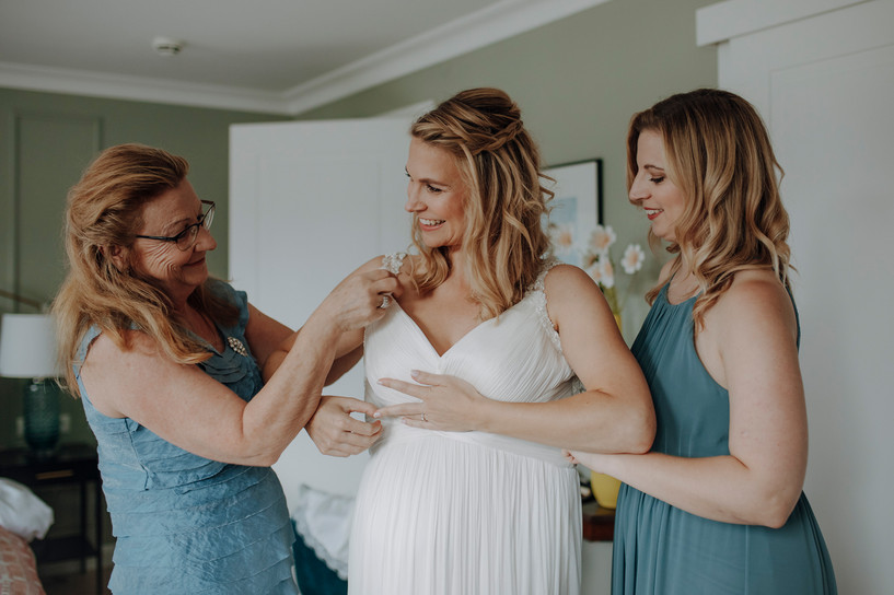 Hochzeitskleid Probe