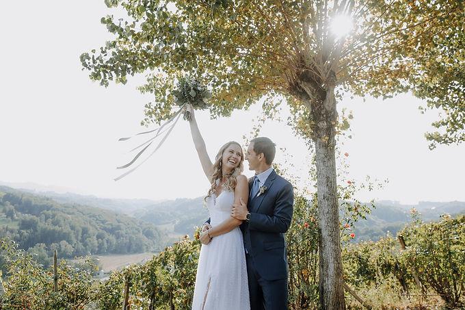 Hochzeit Sommer weinberge