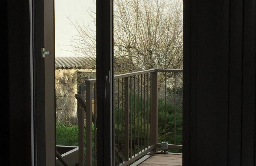L'accés à la terrasse