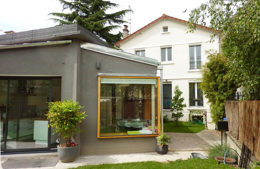 Extension ouverte sur jardin