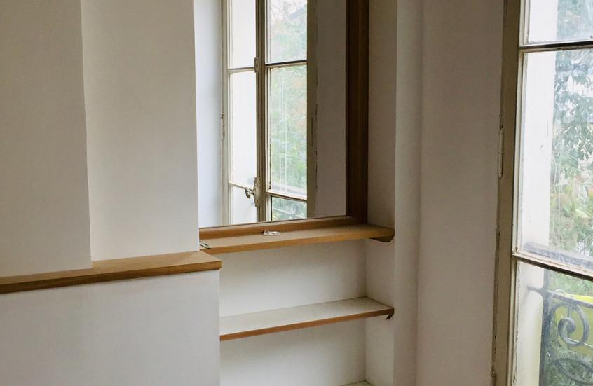 Porte transformée en fenêtre