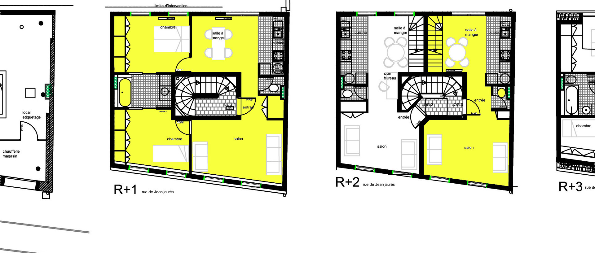 Plans des étages