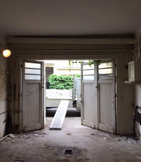 Garage avant trvavaux, futures chambres