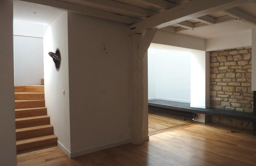 Vue sur le nouvel escalier