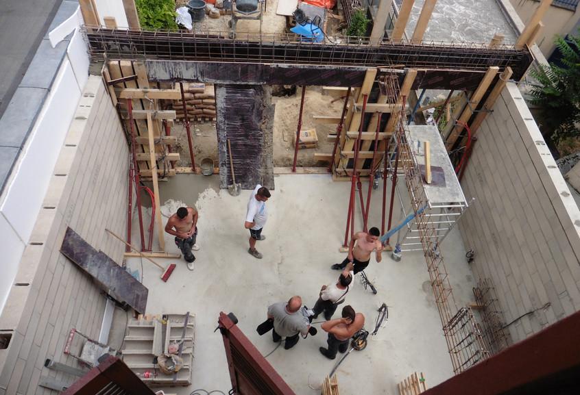 Pendant la construction