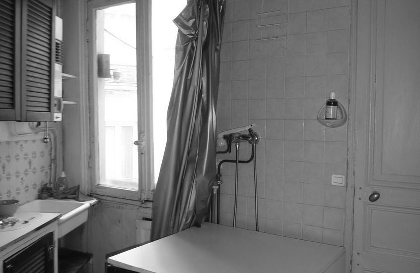 Ancienne douche, future cuisine