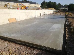 Holburne Park Bath lower floor concrete floor slab poured