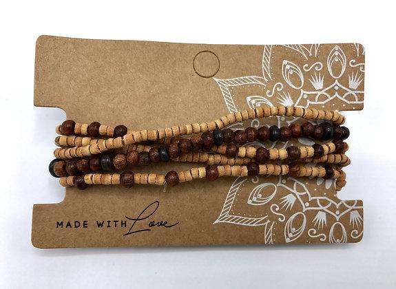 Armband-Set Holz