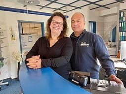 René und Gaby Widmer im Laden