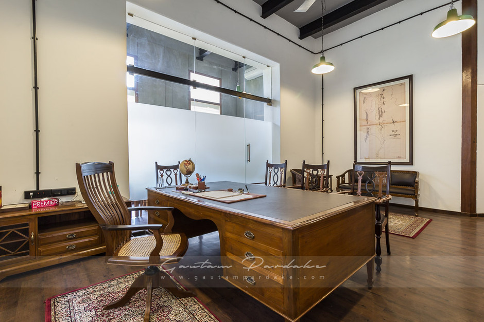 Interior photo of a director's cabin in office in Mumbai