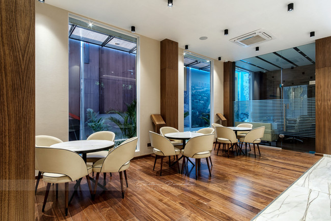 Interior photo of a waiting area or lobby in an commercial office in Dadar, Mumbai