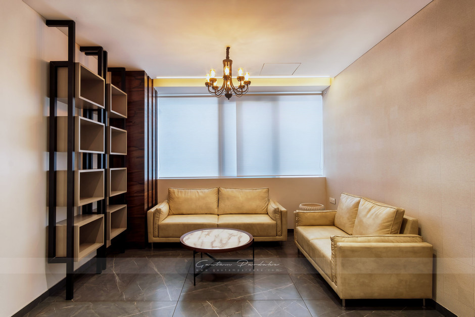 Interior photo of a director's cabin in a commercial office in south Mumbai