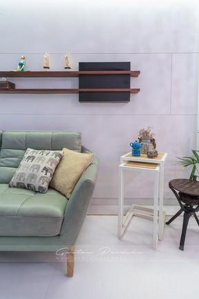 Interior photo of an elegant corner of living Room in Mumbai