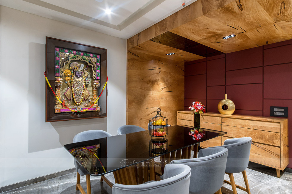 Interior photo of a dining area in living room in Mumbai