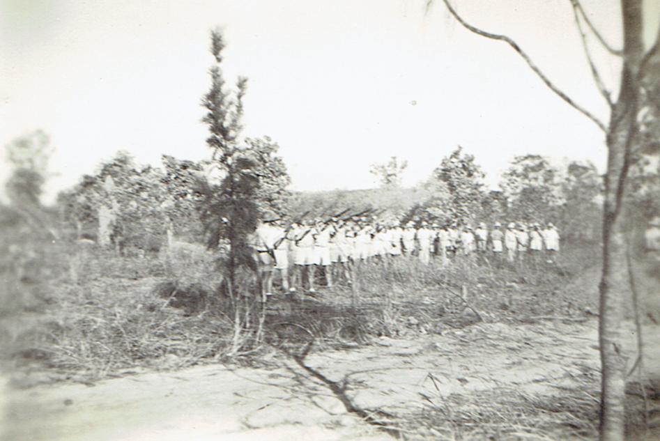 Burial of Capt. Thomas Rozum 1942