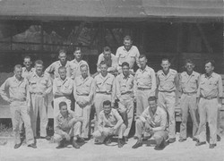Officers of the 260th.  Nestler likely third from left, middle row with arms crossed.