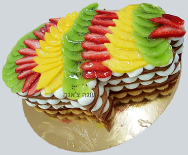 עוגה בצורת חמסה למזל טוב