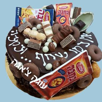 עוגת במבה ושוקולדים