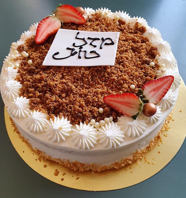 עעוגה באילת - עוגת שמנת עם תותים של עוגה צ'אגה
