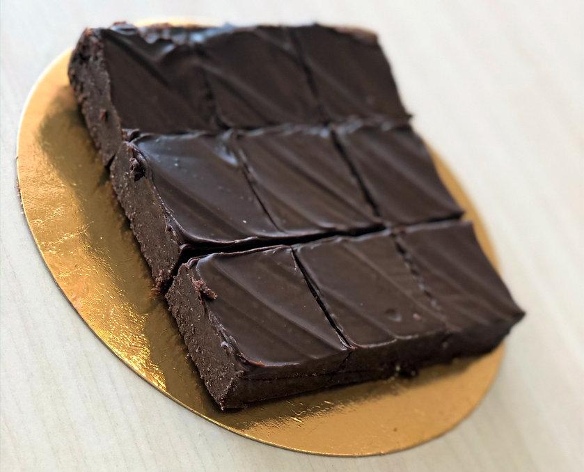 פאדג' שוקולד של עוגה צ'אגה