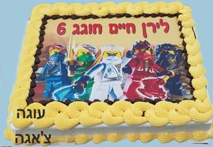 עוגת יום הולדת לגו
