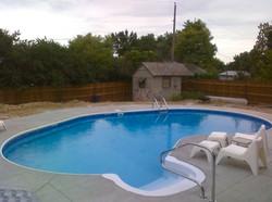 Humpback Kidney Shaped Inground Swimming Pool