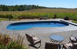 Fiberglass inground pool