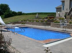 Roman Double End Inground Swimming Pool