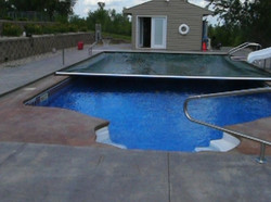 Grecian Inground Swimming Pool with Octagon Steps