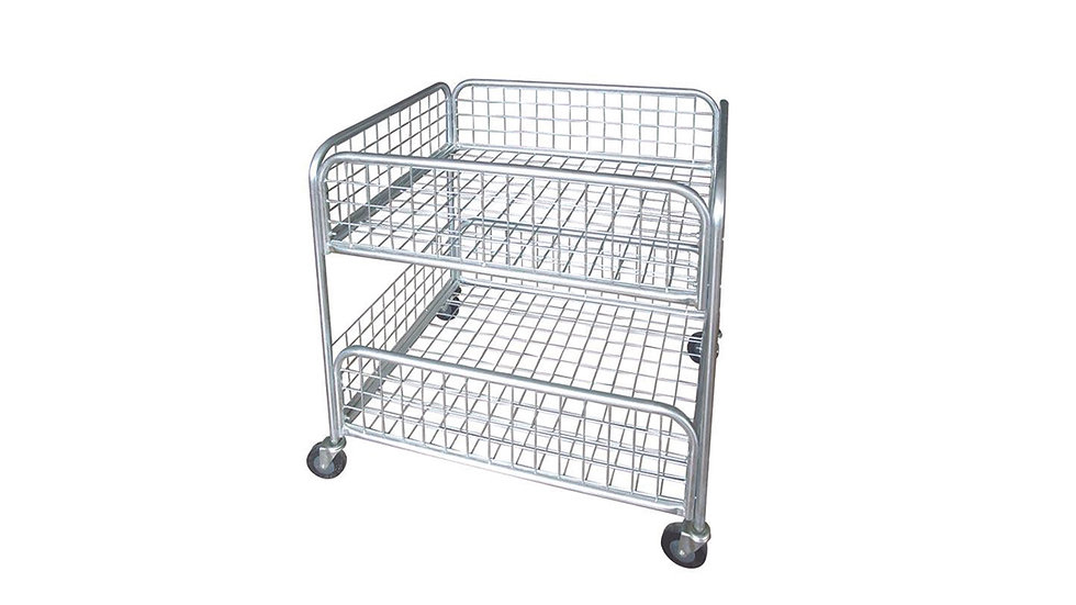 PROMOTION METAL WIRE MESH STORAGE CAGE TROLLEY 800x600x800 MM