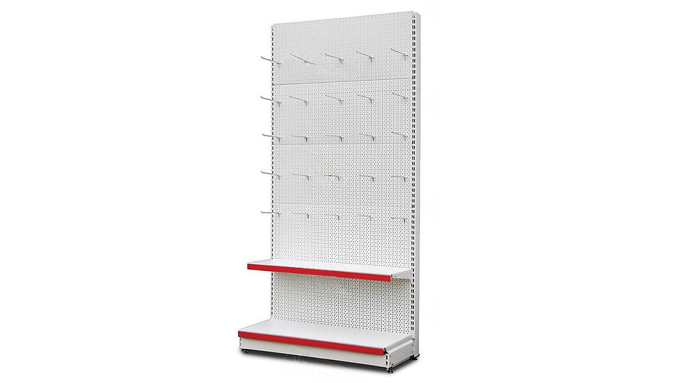 WALL SHELF WITH 25 HOOK'S COMBO L- 55/65 Cm