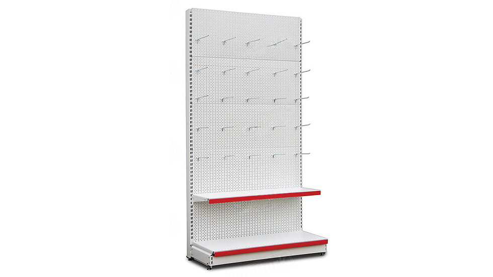 WALL SHELF WITH 25 HOOK'S COMBO L- 133 Cm