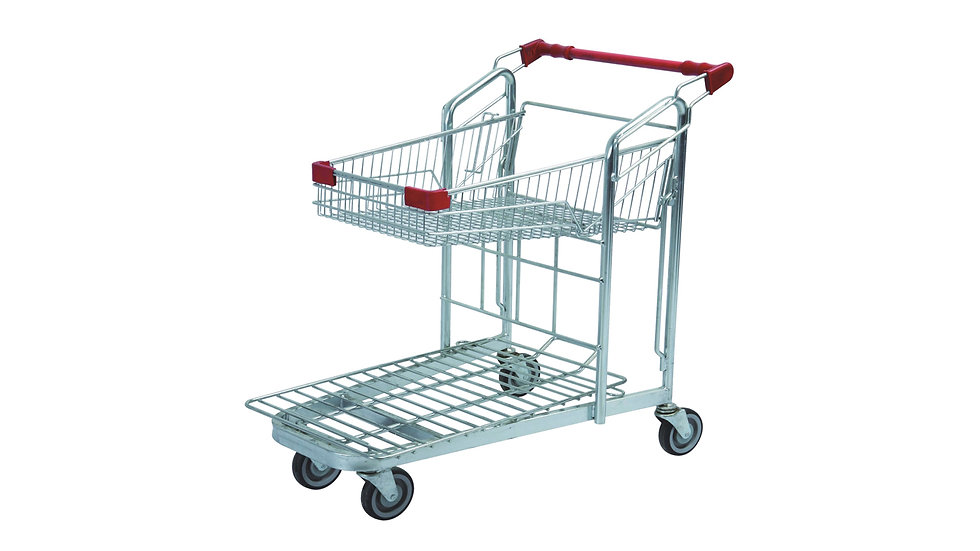 DOUBLE LAYER WAREHOUSE TROLLEY