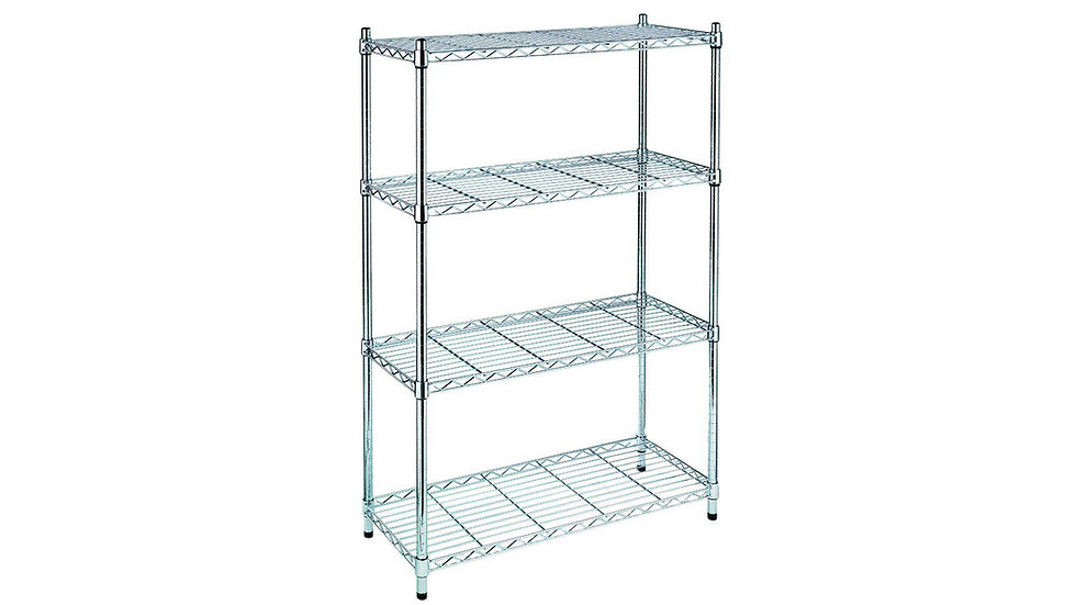 HEAVY DUTY CHROME SHELF WITH SIX DIFFERENT SIZE'S
