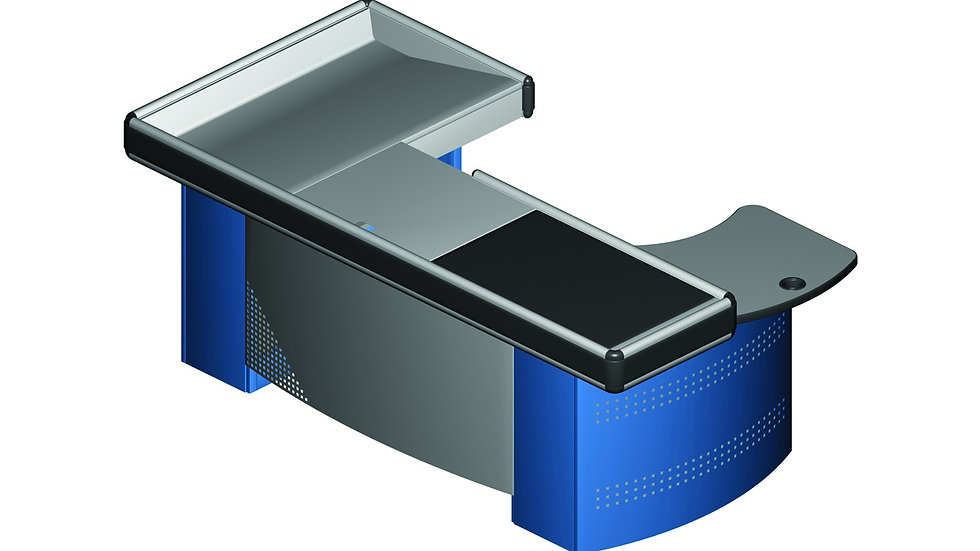 CHECKOUT-COUNTER WITH CONVEYOR BELT