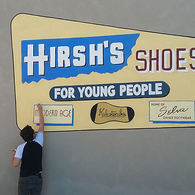 Hirsh's Shoes Mural Revival - Tucson Historic Preservation Foundation
