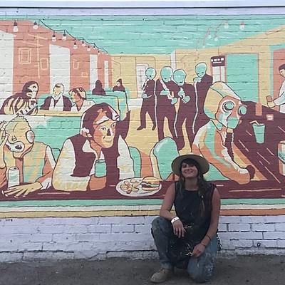 Jenna Tomasello's TallBoys AF Mural