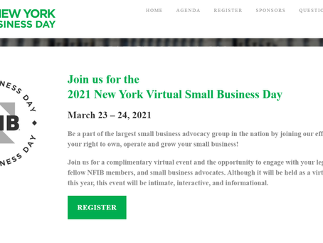 2021 NY Virtual Small Business Day March 23-24, 2021
