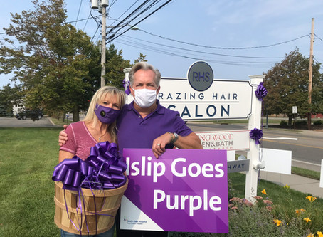 "Razing Hair Salon kicks off ""Islip Goes Purple"""