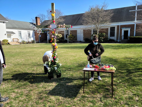 Stop by United Methodist Church on Middle Rd in Bayport to add a flower to our cross!