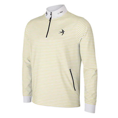 1/4 Zip Tour Jumper - Lemon