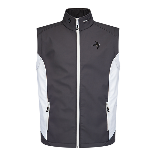 Tour Pro Winter Gilet - Dark Grey / White (Water Resistant)
