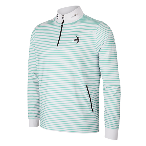 1/4 Zip Tour Jumper - Mint
