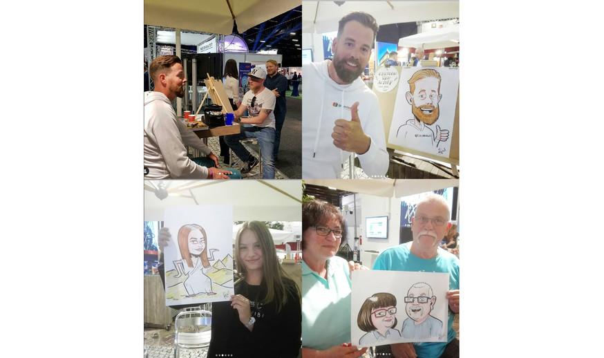 Live karikaturen tijdens Promotiedagen Drenthe
